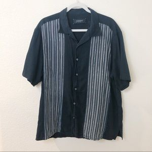 J. Campbell short sleeve button up striped